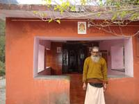 Siva temple with priest