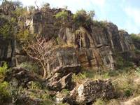 Ganga valley rock formation