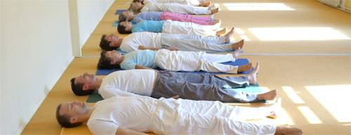 Relaxation with yoga - savasana position